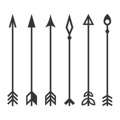 Arrows Set on White Background. Vector