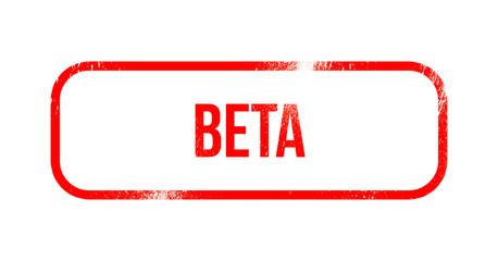 Beta red grunge rubber - stamp