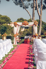 Hindu wedding decorations in nature