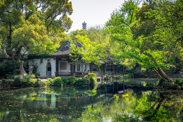 Jichang Garden, the historic site at Huishan Ancient Town in Wuxi City, China.