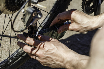 cleaning and lubrication of the bicycle chain