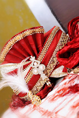 Sehra for groom in traditional Indian wedding ceremony