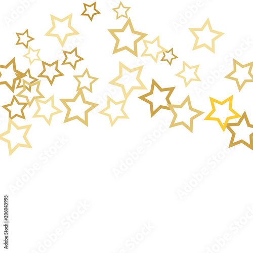 magic gold stars confetti christmas and new year falling stars background sparkling glitter celebration
