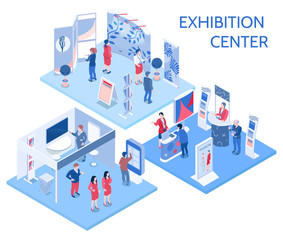 Exhibition Center Isometric Compositions