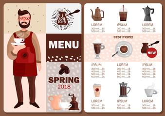 Coffee Production Menu