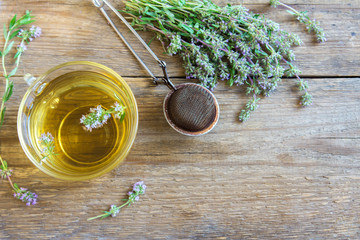 herbal tea with wild thyme