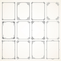 Vector Calligraphic Frame set