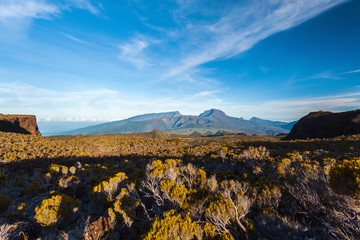 View on the highest summit of Reunion island : Piton des Neiges