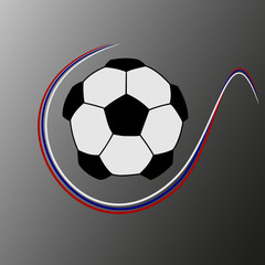 Soccer ball with the colors of Russia