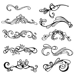 set original elements for creating frames with curls
