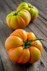 tomato marmande on wooden table