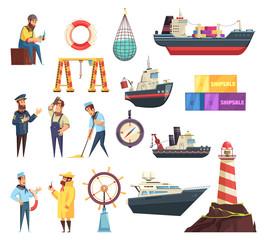 Sailors And Ships Nautical Set