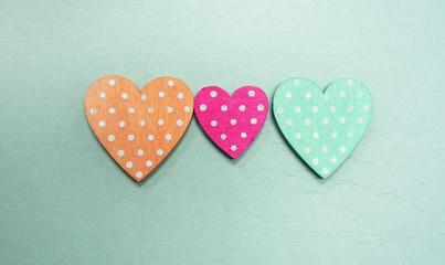 Three polka dot heart