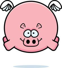 Flying Cartoon Hippo