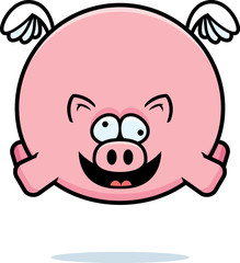 Crazy Cartoon Pig