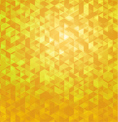 Yellow geometric polygonal abstract background.
