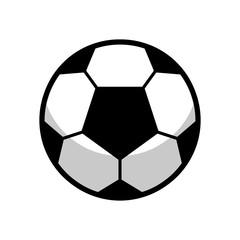 Black and White Ball Football Soccer Vector
