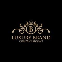 luxury crest logo hotel boutique restaurant vector