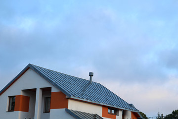 Roof in the morning