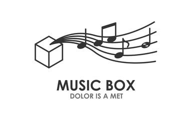 music box vector illustration