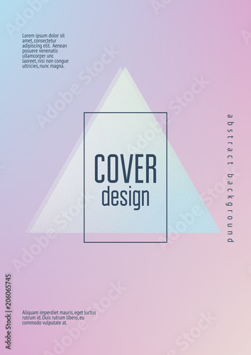 Holographic cover with triangle fluid  Geometric shapes on