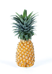 Pineapple fruits Isolated studio on white backgrounds