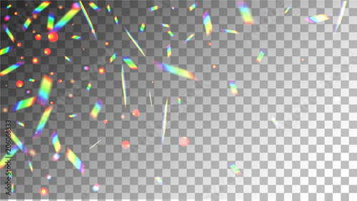 Iridescent Background  Holographic Background with Light