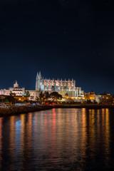 Kathedrale der heiligen Maria, Palma de Mallorca, nachts