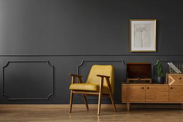 Simple vintage room interior