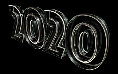 2020 glass 3d rendering