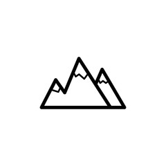 the mountains icon. Element of navigation for mobile concept and web apps. Thin line the mountains icon can be used for web and mobile