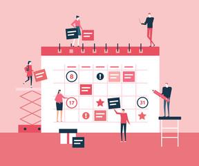 Business planning - flat design style illustration