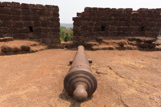 Old cannon at fort