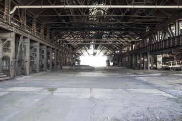 Rusty industrial steel constructions