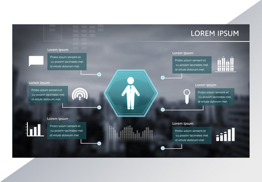 Futuristic Business Infographic Layout