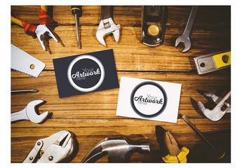 Workshop Business Card Mockup Layout