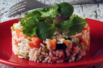 Riisisalaattia Insalata di riso Rice salad Ensalada de arroz freddo Salade de riz σαλάτα ρύζι sałatka ryżowa