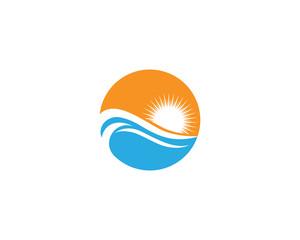 Water Wave Logo Beach