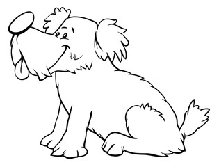 dog or puppy cartoon character color book