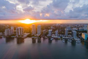 Sunset Brickell aerial Miami