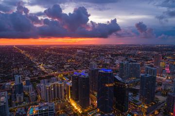 Sunset over Miami Brickell