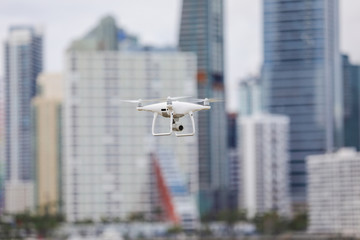 Drone in the city