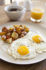 Fried Eggs and Hash Browns