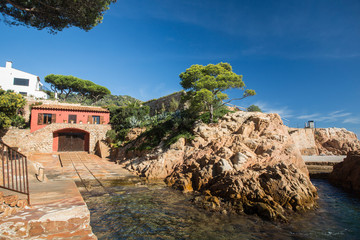 Fotomurales - Landscape of Fornells beach in Costa Brava, Spain.