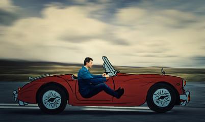 imaginary car driving