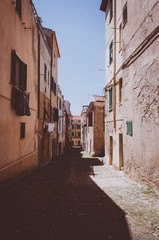 the beautiful alley of Alghero old city