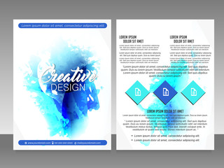 nice and beautiful Flyers or Brochures for Business with nice and creative design illustration.