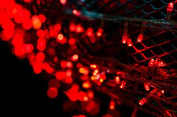 Red Bokeh light background