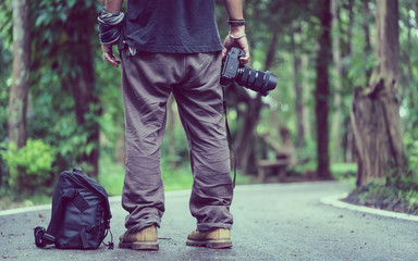 Nature Photographer With Camera