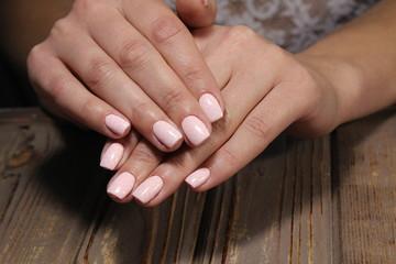 fashionable female manicure